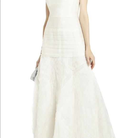 BCBG Dresses | Marisa Layered Organza Wedding Dress | Poshmark